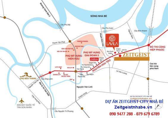 Vị trí Dự án ZeitGeist Nhà Bè
